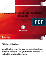 Clase 2  - Ciclo de Vida de un Proyecto Minero.pptx