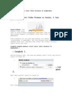 Cara Membuat Relasi Antar Tabel Database Di PhpMyA
