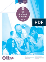 Kings UK Uni Pathways Courses 2015 16