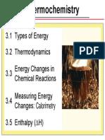 3 - Thermochemistry (3.1 - 3.2)