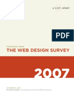 Findings From the Web Design Survey