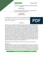 Determinants of Retail Consumer Choice of IB in Kenya