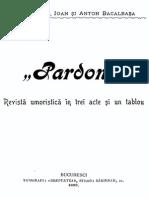 Ion & Constantin & Anton Bacalbasa - Pardon (1899)