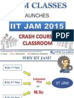 IIT JAM 2015 EXAM 1 OR 2 MONTH COURSE DETAILS