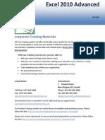 Excel 2010 Advanced Sample