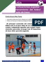Juegos y situaciones jugadas en el entrenamiento del fútbol sala de base..pdf