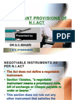 9-Important Provisions of n.i