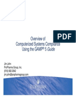 computer system validation using GAMP 5