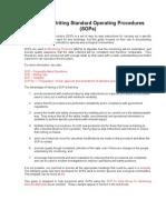 SoP Guide 20090812 Revised