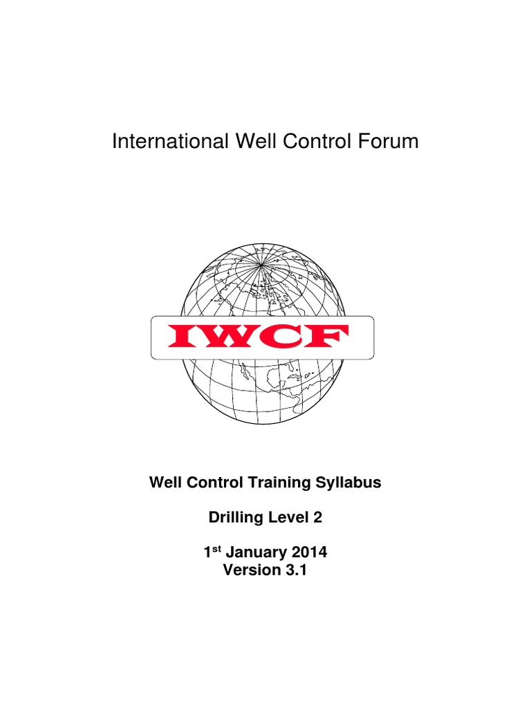 iwcf well control training level 2 syllabus geotechnical rh es scribd com iwcf well intervention pressure control manual IWCF Kill Sheet