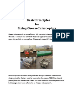 Basic Principles for Sizing Grease Interceptors