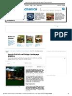 How to Put in Low-Voltage Landscape Lighting - Popular Mechanics