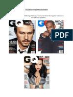 gq magazine questionnaire