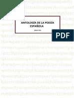 ANTOLOGÍA DE LA POESÍA ESPAÑOLA II - Siglo XX
