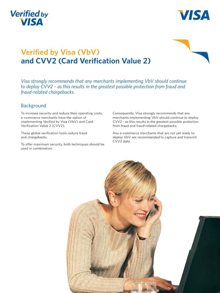 verifiedbyvisa_cvv2 pdf | Authentication | Cryptography