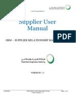 SRM_Vendor_User Manual - Enquiry and Quotation