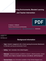 VLEs, Blended Learning and Teacher Intervention