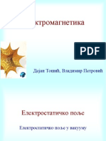 Slajdovi-Elektromagnetika-Elektrotehnicki Fakultet EM02 Elektrostatika PDF