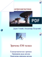 Slajdovi-Elektromagnetika-Elektrotehnicki Fakultet EM09 ZracenjeEMTalasa Part1 PDF