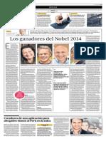 Los Ganadores Del Nobel 2014