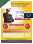 Deposit Application form shriram