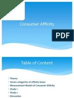 Consumer Affinity