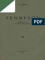 Nicolae Iorga - Tennyson - Conferință La Societatea Anglo-Română