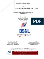 BSNL PROJECT ON DISTRIBUTION STRATEGY OF SIM
