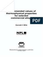 K. C. Mills-Recommended Values of Thermophysical Properties for Selected Commercial Alloys (2002) (2)