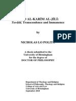 Al Jili Tawhid