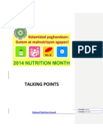 2014 Nutri Mo Talking Points