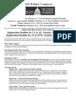 Winter Congress Registration Packet