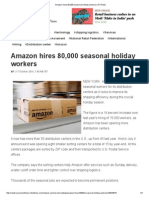 Amazon Hires 80,000 Seasonal Holiday Workers _ ET Retail