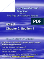WEX II Chapter 8, Section 4 the Age of Napoleon Begins