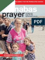Prayer Diary November - December 2014