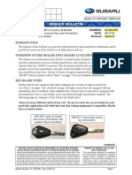 SUBARU Immobilizer Info