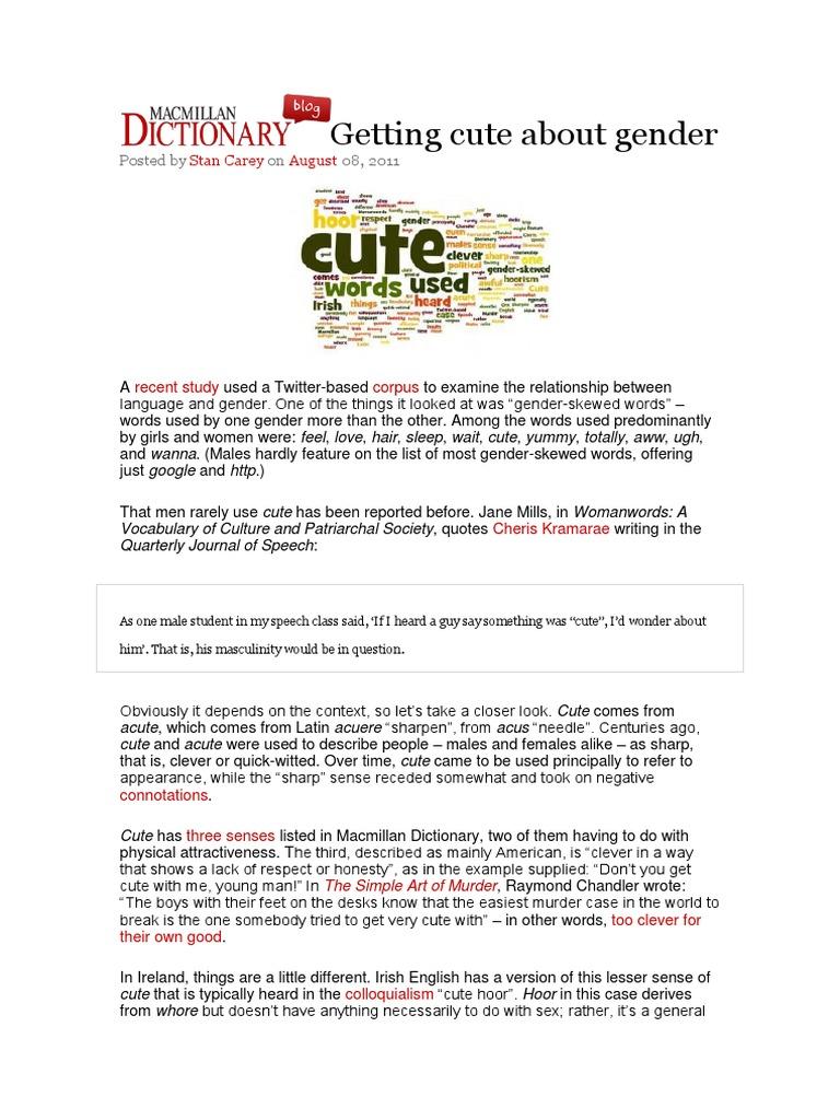 Getting cute about gendercx Ethnicity Race & Gender