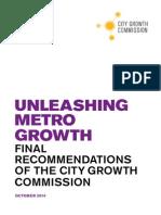 Unleashing Metro Growth