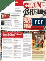 CloneBrews  2nd Edition - Marketing Brochure