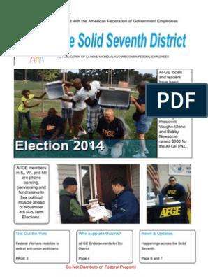 AFGE District 7 Oct 2014 Newsletter | Disenfranchisement
