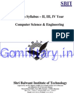 Cse b.tech Upto 8th Sem Syllabus
