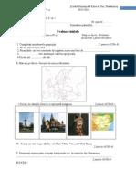 Evaluare Istorie Clasa a Va Initiala Sumativa Finala