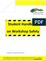 student handbook on workshop safety