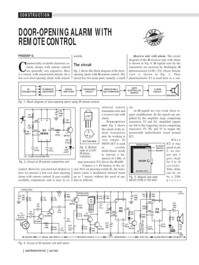 Alarm For Door Opening 6pcs Lot Wireless Window Sensor Fridgedoor Open Circuit Project Eeweb Community Remote Control Transistor