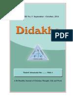 Didakhe - September_October, 2014