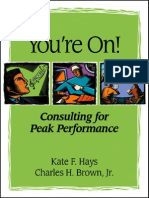 You'Re on Consulting for Peak Performance-Mantesh
