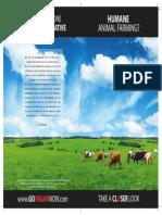 Humane Animal Farming?