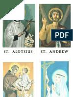 All Saints Scavenger Hunt Saint Cards (2nd Version of Game)