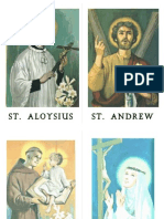 All Saints Scavenger Hunt Saint Cards (2nd Version of Game)
