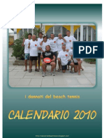 i dannati del beach tennis Calendario 2010